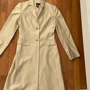BCBG vintage silk coat